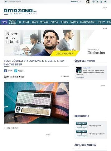 Amazona.de Test: Dübreq Stylophone & Stylophone Beatbox