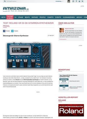 Amazona.de Test: Roland, GR 55 GK, Guitar-Synthesizer
