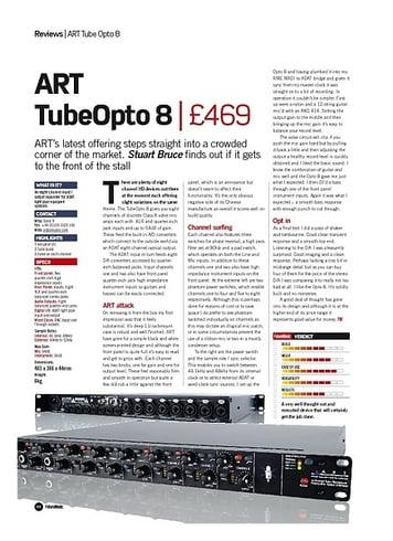 Future Music ART TubeOpto 8