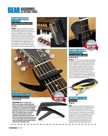 Total Guitar G7Th Nashville Capo