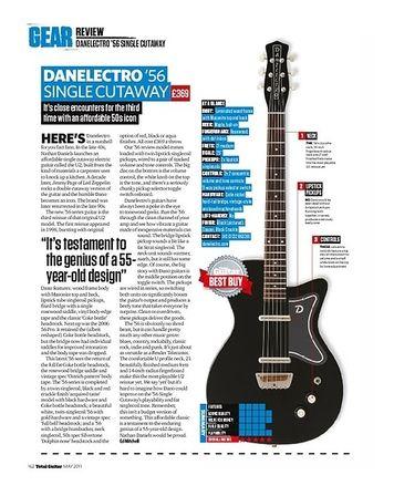 Total Guitar Danelectro 56 Single Cutaway