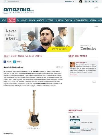 Amazona.de Test: Cort G260 NA, E-Gitarre