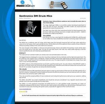 MusicRadar.com Sontronics DM Drum Mics