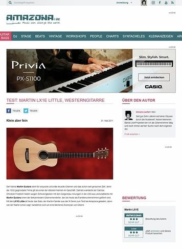 Amazona.de Test: Martin, LX1E Little, Westerngitarre