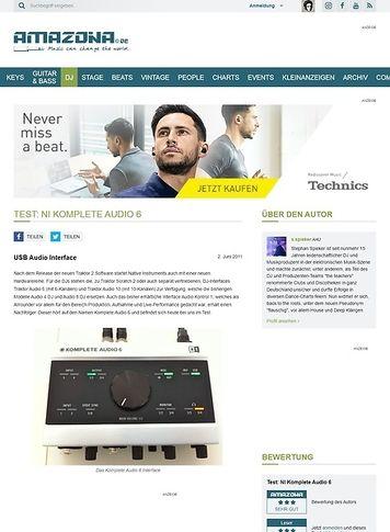 Amazona.de Test: NI Komplete Audio 6