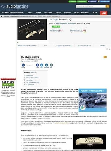 Audiofanzine.com L.R. Baggs Anthem SL
