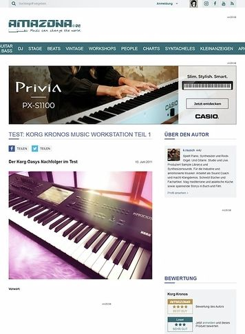 Amazona.de Test: Korg Kronos Music Workstation Teil 1