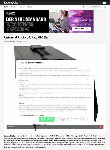 Bonedo.de Universal Audio Solo 610