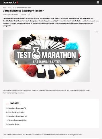 Bonedo.de Testmarathon Bassdrum-Beater