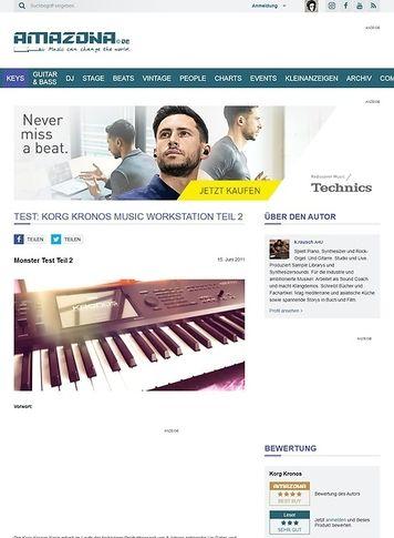 Amazona.de Test: Korg Kronos Music Workstation Teil 2