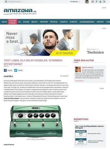 Amazona.de Test: Line6, DL4 Delay Modeler, Gitarren-Effektgerät