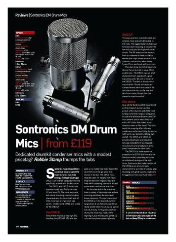Future Music Sontronics DM Drum Mics