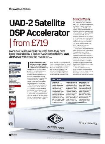 Future Music UAD-2 Satellite DSP Accelerator