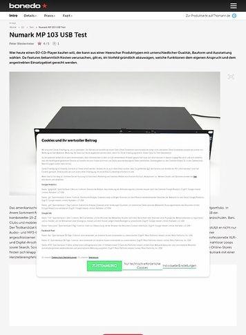 Bonedo.de Numark MP 103 USB