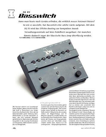 Gitarre & Bass Basswitch IQ DI, Bass-Preamp & Schaltzentrale