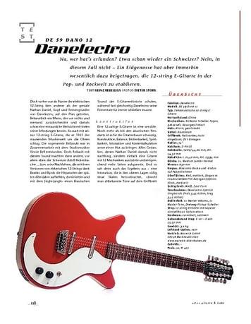 Gitarre & Bass Danlectro DE 59 Dano 12,12-string-E-Gitarre