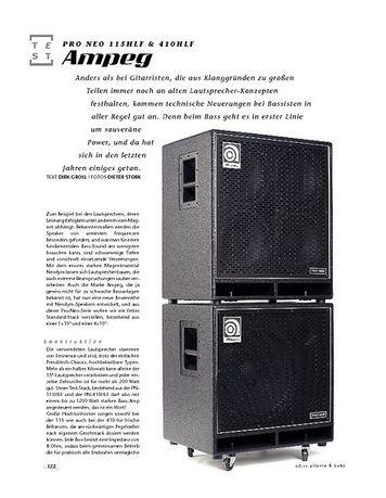 Gitarre & Bass Ampeg Pro Neo 115HLF & 410HLF, Bass-Boxen