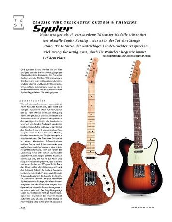 Gitarre & Bass Squier Classic Vibe Telecaster Custom & Thinline, E-Gitarren