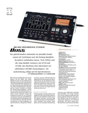 Gitarre & Bass Boss BR-800 Recording-Studio
