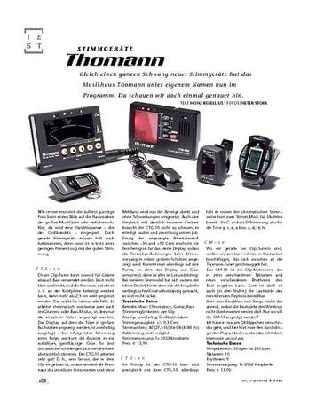 Gitarre & Bass Thomann Stimmgeräte