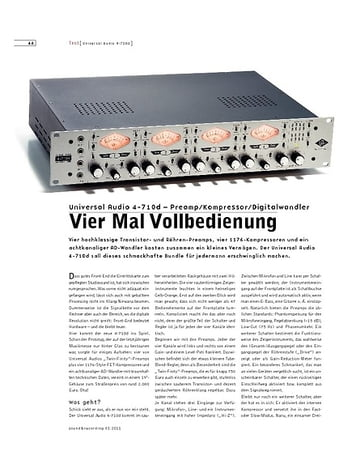 Sound & Recording Universal Audio 4-710d – Preamp/Kompressor/Digitalwandler