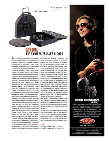 """Sticks Meinl 22"""" Cymbal Trolley & Case"""