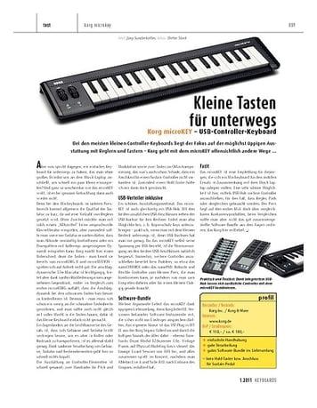 Keyboards Korg microKEY – USB-Controller-Keyboard