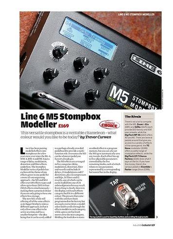 Guitarist Line 6 M5 Stompbox Modeller