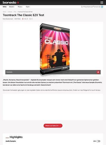 Bonedo.de Toontrack The Classic EZX