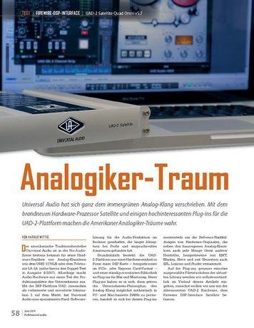 Professional Audio Analogiker-Traum