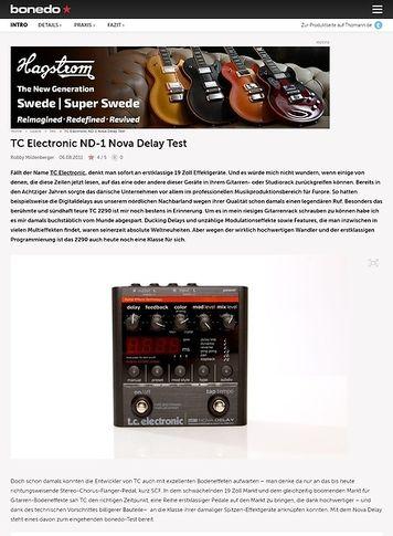 Bonedo.de TC Electronic ND-1 Nova Delay