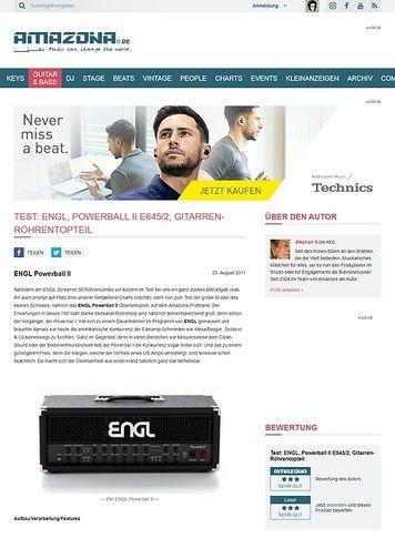 Amazona.de Test: ENGL, Powerball II E645/2, Gitarren-Röhrentopteil