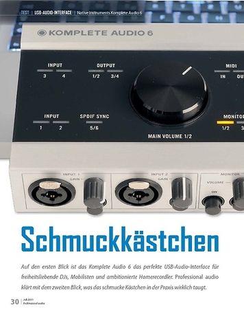 Professional Audio Schmuckkästchen: Native Instruments Komplete Audio 6