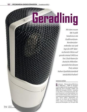 Professional Audio Geradlinig Sennheiser MK 4