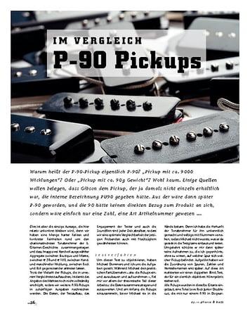 Gitarre & Bass P-90-Vergleich