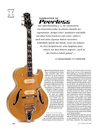 Gitarre & Bass Peerless Gigmaster SC, E-Gitarre