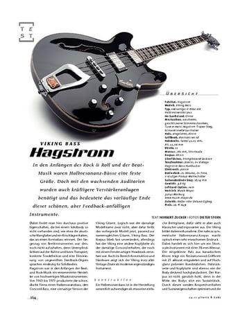 Gitarre & Bass Hagström Viking Bass, E-Bass