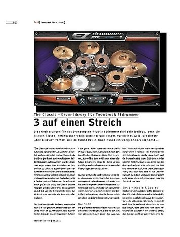 Sound & Recording The Classic – Drum-Library für Toontrack EZdrummer