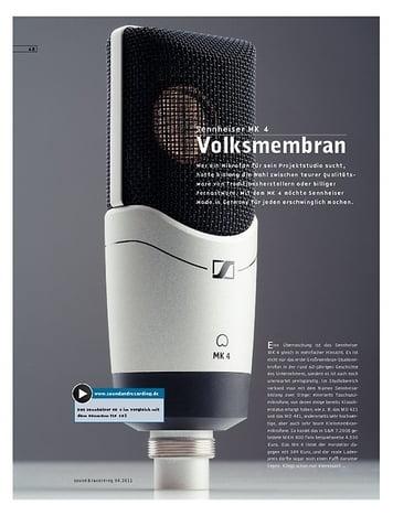 Sound & Recording Sennheiser MK 4 – Mikrofon