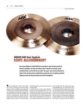 Sticks Sabian AAX Omni Cymbals