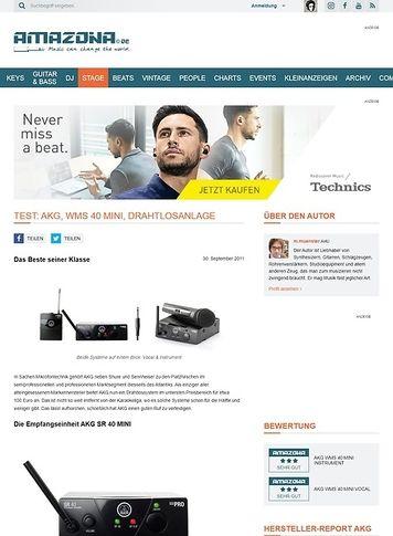 Amazona.de Test: AKG, WMS 40 MINI, Vocal Set und Instrumental Set, Drahtlossysteme