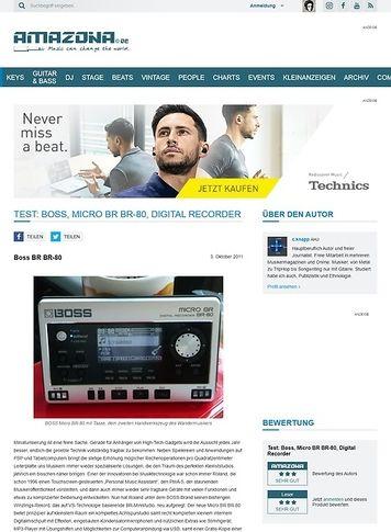 Amazona.de Test: Boss, Micro BR BR-80, Digital Recorder