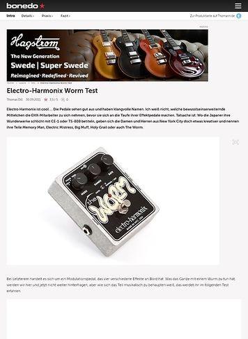 Bonedo.de Electro Harmonix Worm