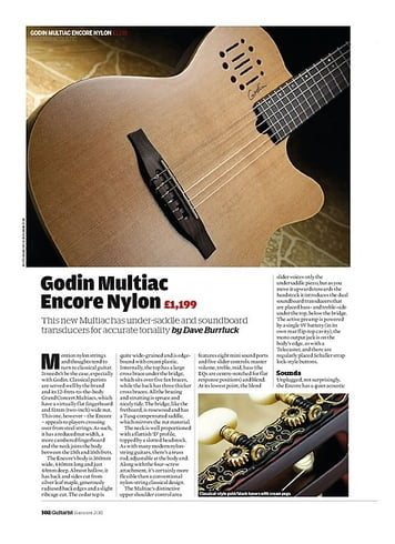 Guitarist Godin Multiac Encore Nylon