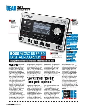 Total Guitar BOSS MICRO BR BR-80 DIGITAL RECORDER