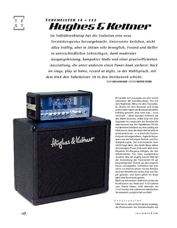 Gitarre & Bass Hughes & Kettner TubeMeister 18 + 112, Röhren-Mini-Stack