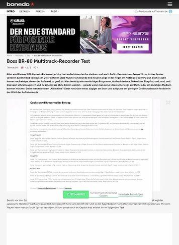 Bonedo.de Boss BR-80 Multitrack-Recorder