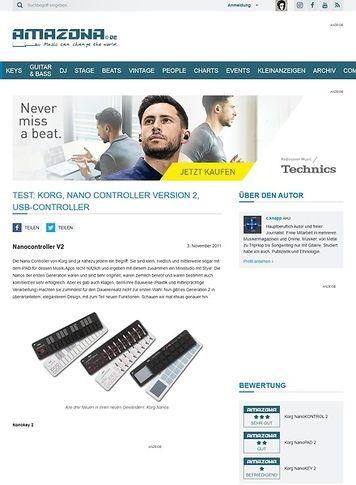 Amazona.de Test: Korg, Nano Controller Version 2, USB-Controller