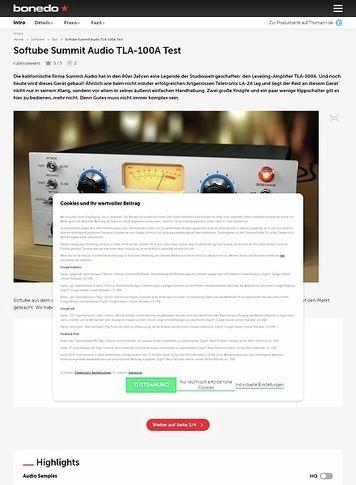 Bonedo.de Softube Summit Audio TLA-100A