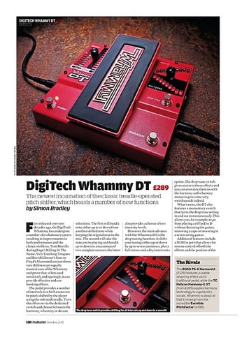 Guitarist DigiTech Whammy DT